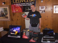 Tim Tully with Universe DVD at Texas Star Party 2003